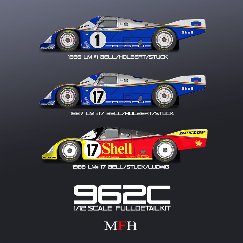 1/12 porsche 962C  - MONTE / BUILT - model factory hiro