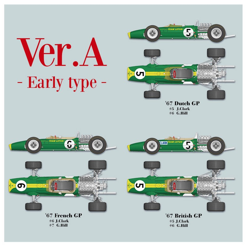 1/12 Kit Lotus 49 1967 early version. model factory hiro k689