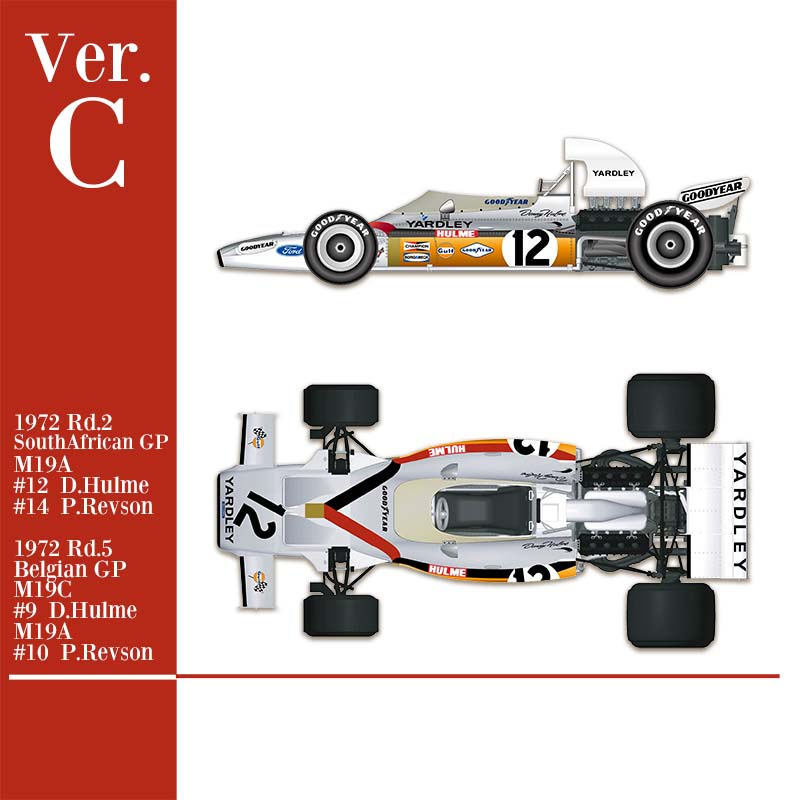 1/43 kit Mc laren M19C 1972 yardley. model factory hiro k586