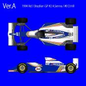 1/12 KIT WILLIAMS FW 16 GP BRESIL- Model factory hiro k495