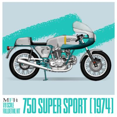 1/9 Maquette en Kit DUCATI 750 SUPER SPORT 1974 model factory hiro  K757