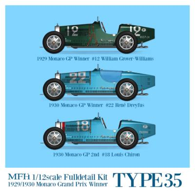 1/12 Maquette en Kit BUGATTI TYPE 35 GP Monaco 1929/1930 model factory hiro  K736