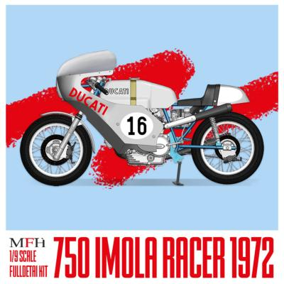 1/9 Maquette en Kit DUCATI 750 IMOLA 1972 model factory hiro  K743