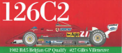 1/20 Maquette en kit Ferrari  126 C2 GP Belgique 1982  model factory hiro  K732