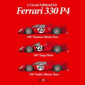 1/12 Kit Ferrari 330 P4 spyder LM67 #20 model factory hiro mfh k478