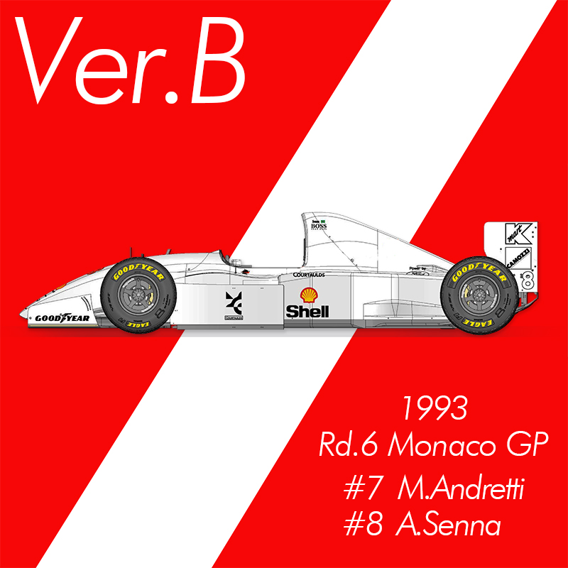 1/12 Kit Mc laren MP4/8 1993  monaco GP #7 M.Andretti  model factory hiro K 457