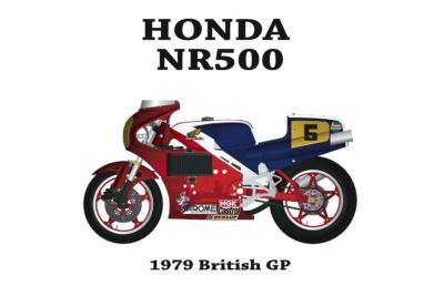 1/12 KIT HONDA NR 500 -NR1 - model factory hiro  MFH K328