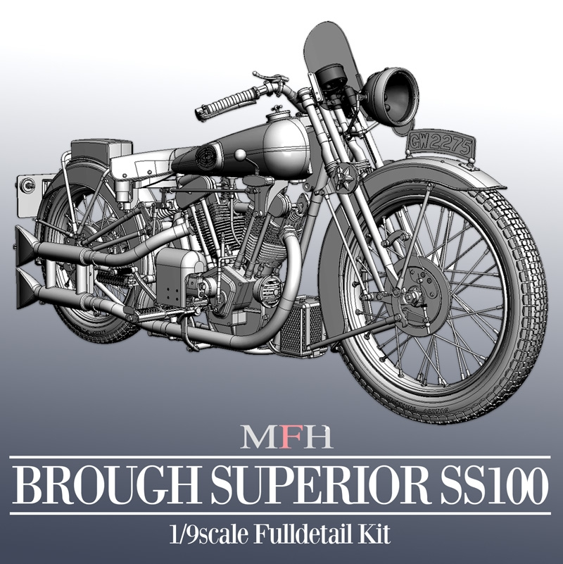 1/9 KIT Brough Superior SS100 - model factory hiro  MFH K485