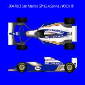 1/20 Maquette en kit WILLAMS FW16 1994 A.SENNA model factory hiro  K731