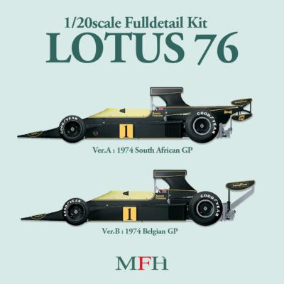 1/20 Maquette en kit LOTUS 76   BELGIQUE 1974 model factory hiro  K271