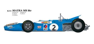 1/20 Maquette en Kit MATRA MS80 GP FRANCE model factory hiro  K258