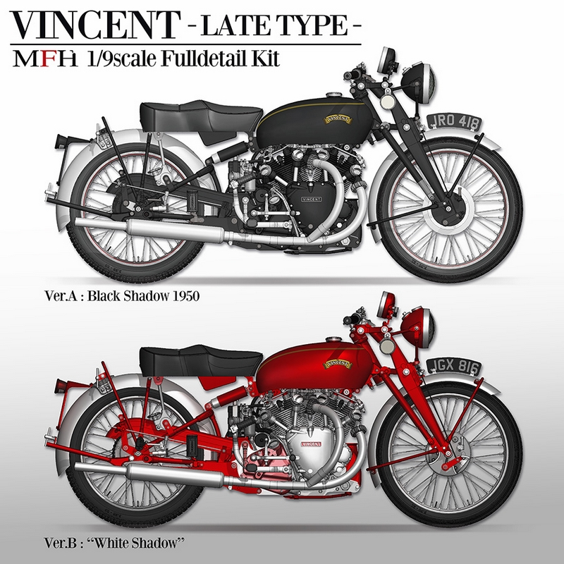 1/9 KIT VINCENT White shadow 1950 - model factory hiro  MFH K622