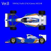 1/12 KIT WILLIAMS FW 16 PACIFIC GP- Model factory hiro k496