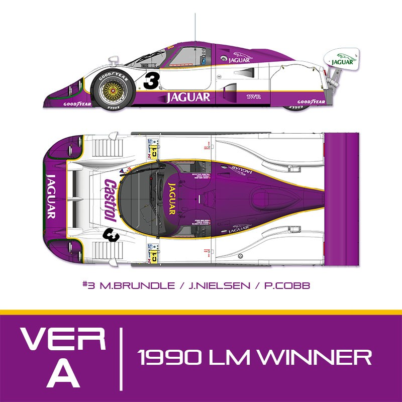 1/24 kit Jaguar XJR 12 le mans 1990 . model factory hiro k683