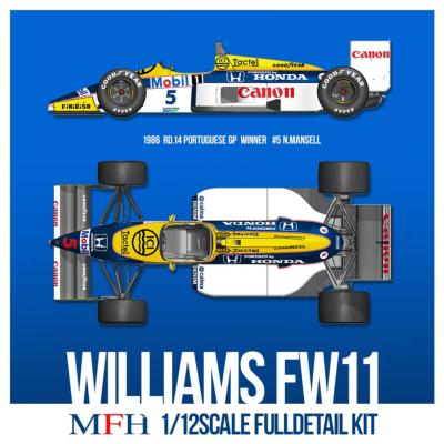 1/12 Maquette en Kit WILLIAMS FW11 PORTUGAL 1986 model factory hiro  K742