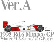 1/12 Maquette en Kit MC LAREN MP4/7 GP Monaco 1992 model factory hiro  K718